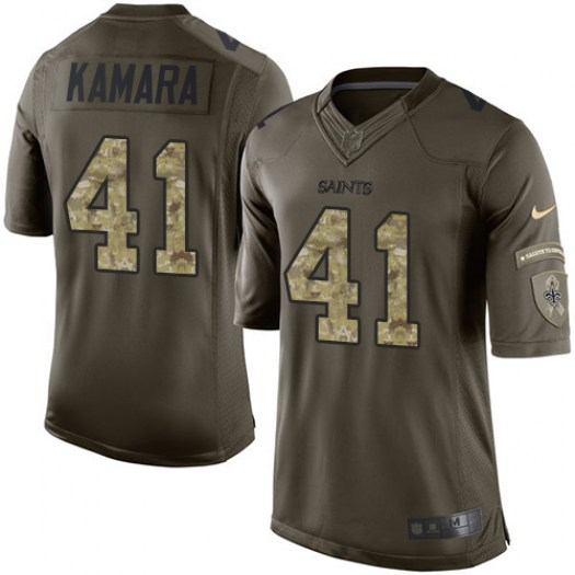 best sneakers be600 b819c Nike Alvin Kamara New Orleans Saints Limited Green Salute to Service Jersey  - Men's